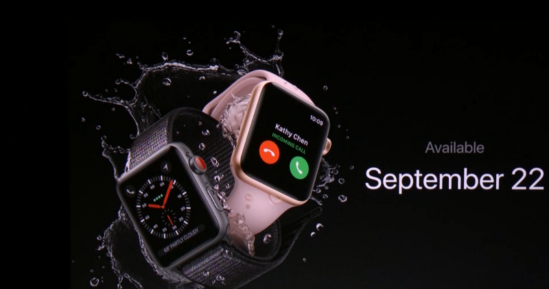 apple watch 3 22 septembre 2017