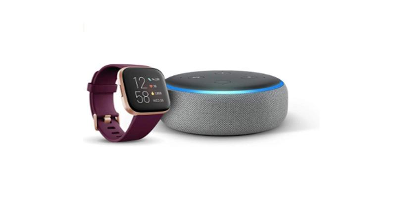 bon plan amazon echo dot 3 fitbit versa 2