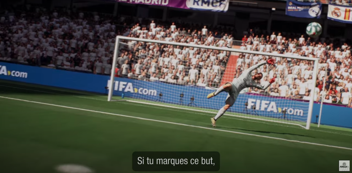Capture ecran ea games fifa 21