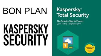 Bon plan antivirus : -20 % sur Kaspersky Total Security