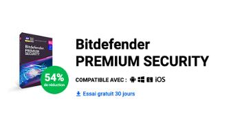 Bon plan : -54 % sur l'antivirus Bitdefender Premium Security