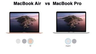 Comparatif : MacBook Pro vs MacBook Air