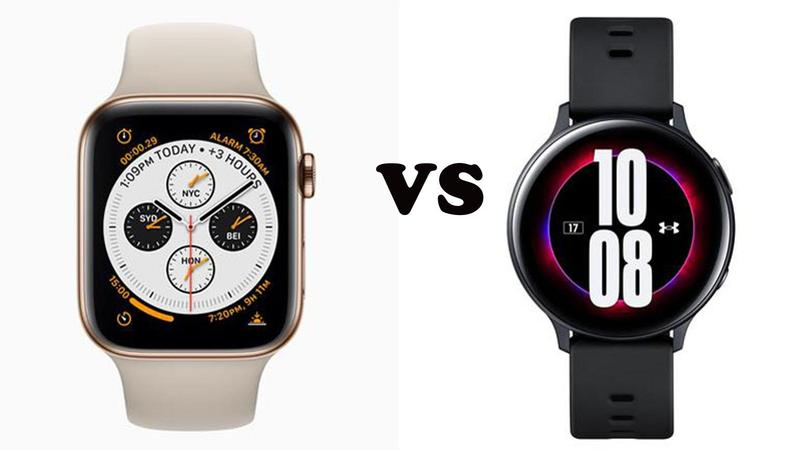 comparatif galaxy active 2 apple watch series 4