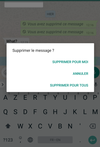 whatsapp supprimer message avant lecture 7 minutes