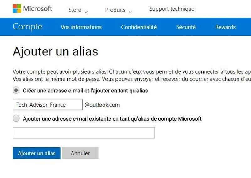 ajouter boite mail hotmail iphone